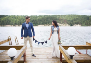 свадьба в стиле джинс