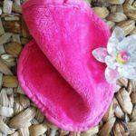 AfterSpa, Волшебная многоразовая салфетка для удаления макияжа.Мини.Розовая.