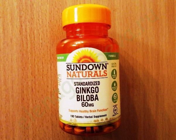 Стандартизованный экстракт листьев гинко билоба, 60 мг, 100 таблеток