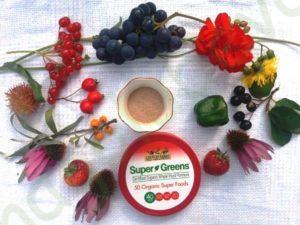 Country Farms, Super Greens, сертифицированная органическая формула из цельных продуктов-вкусный ягодный аромат, 10,6 унц. (300 г)