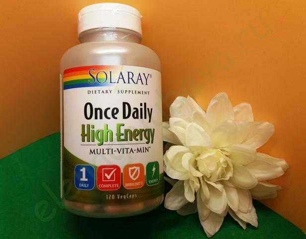 Solaray, Одна капсула в день, Multi-Vita-Min энергетическая добавка, 120