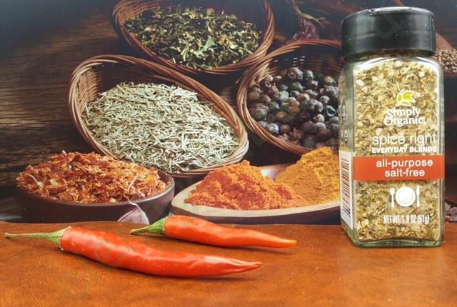 Simply Organic, Универсальные органические специи без соли Organic Spice Right Everyday Blends